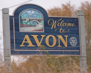 avon indiana sign